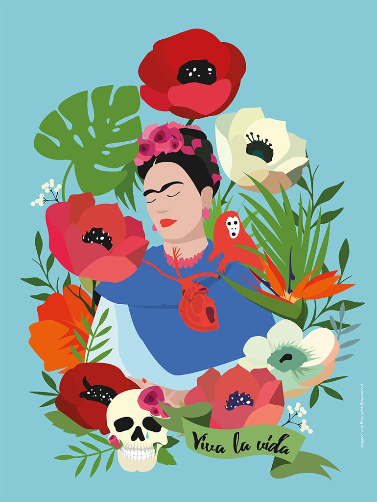 Frida Kahlo 30x40 Kopie